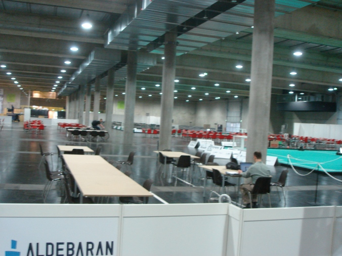 Stadthalle Graz in preparation for RoboCup 2009