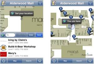 Smart Map™ Indoor Navigation App supported by Compass, launched in April 2010 (Point Side)