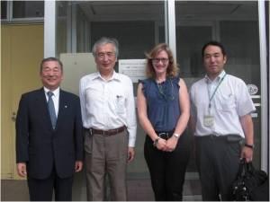 Oita-san, Professor Esashi, Karen Lightman and Hiroyuki-san