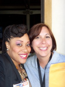 "Chivonne & Monica say, ""Thanks for a great time at SEMICON West!"""
